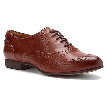 Indigo by Clarks Charlie Brogue | Women's - Cognac Leather - FREE SHIPPING at OnlineShoes.com