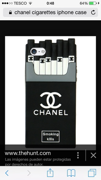phone cover chanel cigartte iphone case