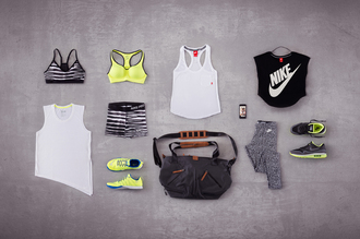 the blonde salad nike nike sportswear nike bra workout leggings gym bag sportswear sports bra workout sports shoes neon