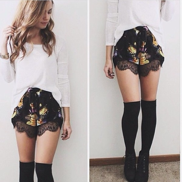 blouse shorts shoes underwear