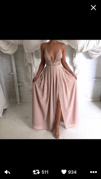 dress pale peach strapped prom peach dress pale dress