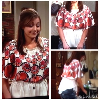 shirt white red lily aldrin how i met your mother alyson hannigan