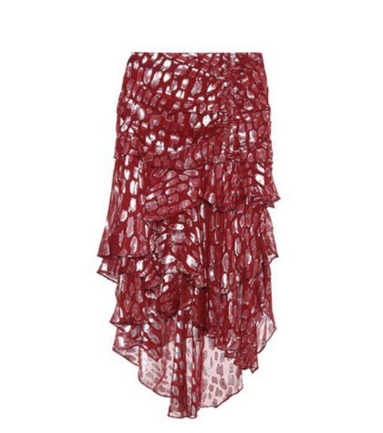 Veronica Beard skirt red