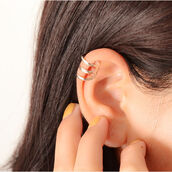 jewels,2pcs silver tone u shaped hollow out ear cuff no piercing clip,earrings
