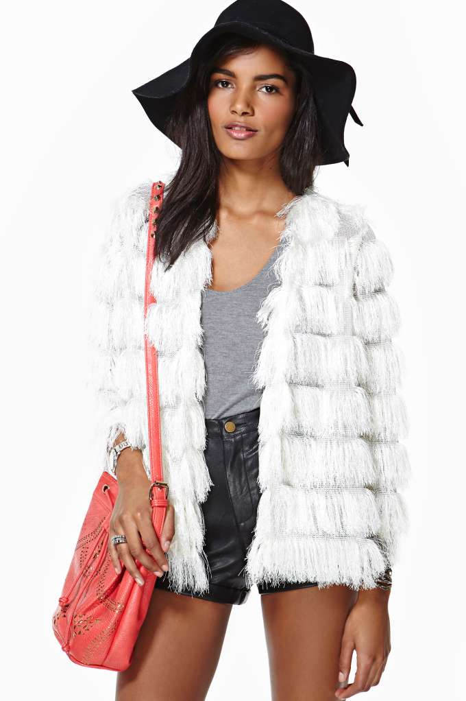 Keep On Swinging Fringe Jacket in  Clothes at Nasty Gal