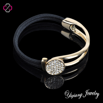 jewels charm bracelet leather bracelet punk round