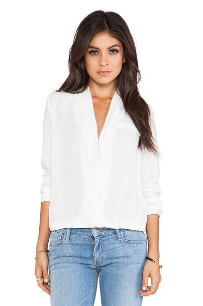 Lovers + Friends blouse white