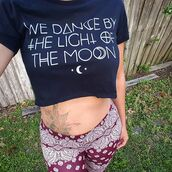 t-shirt,social decay,crop tops,cropped,moon