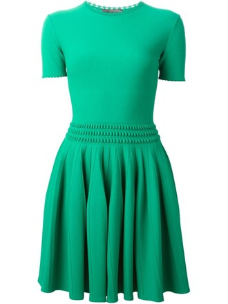 dress mini dress mini pleated green