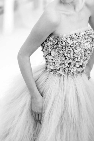 dress sequin dress fur snow prom dress long prom dress long dress fashion style white dress pearl princess wedding dresses