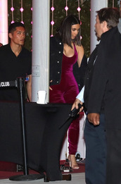 jumpsuit,velvet,kim kardashian,kardashians,tank top