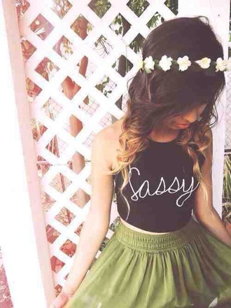 tank top black tote bag top sleeveless sassy writing fancy summer spring party beach casual hippie hair accessory