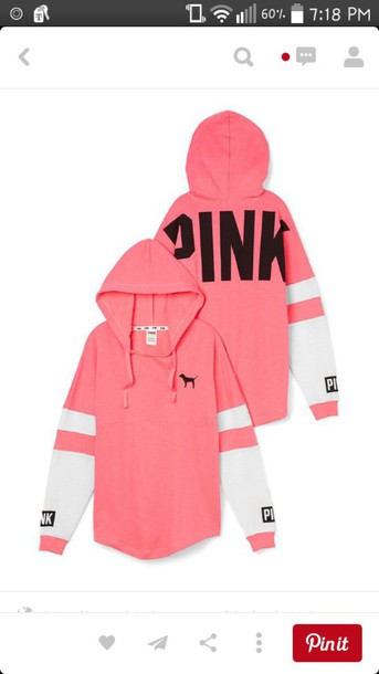 sweater pink pink by victorias secret black and white hoodie