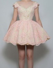 dress,pink dress,lace dress,puffy dress,prom dress,short prom dress,flowers,diamonds,ballerina,princess,pink,light pink,light pink dress,fashion,fancy,fancy dress,cocktail dress,party dress,party
