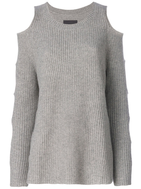 Zoe Jordan jumper women cold wool grey sweater