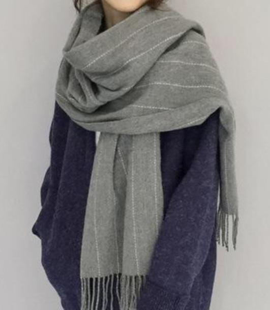 scarf girly grey blanket scarf