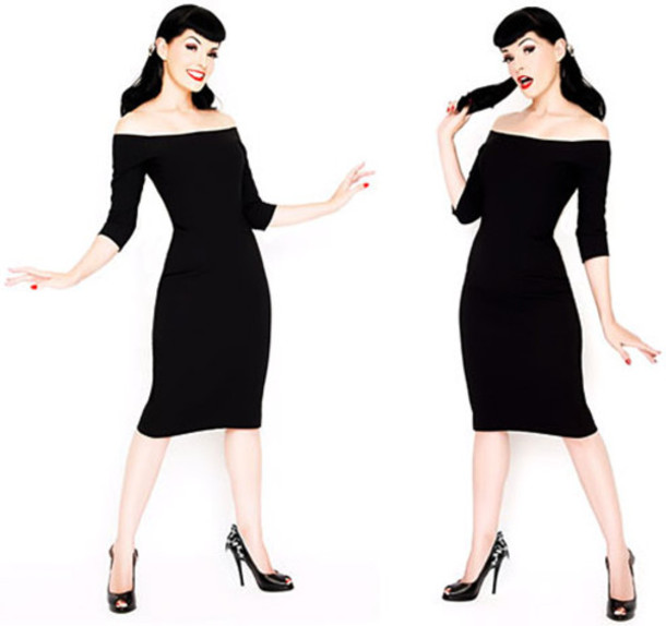 Dress: pin up, vintage, vintage re-creation, black, vamp - Wheretoget