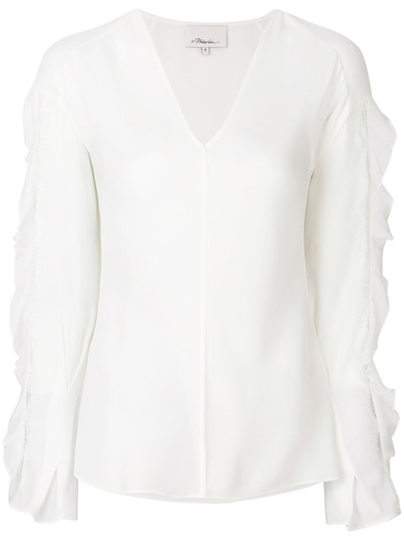3.1 Phillip Lim blouse long women white silk top