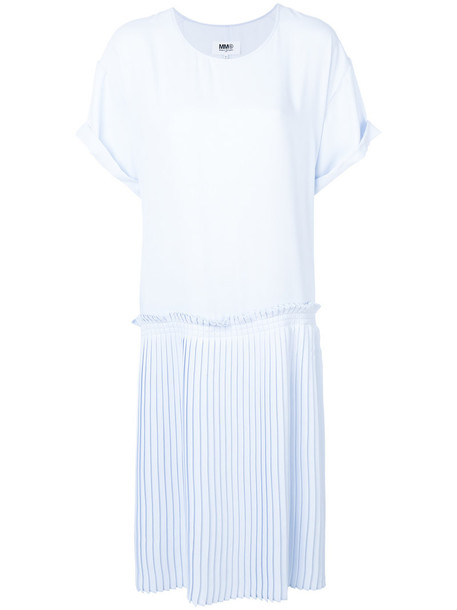 Mm6 Maison Margiela dress shift dress oversized women blue