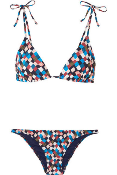 Tory Burch bikini triangle bikini triangle blue swimwear