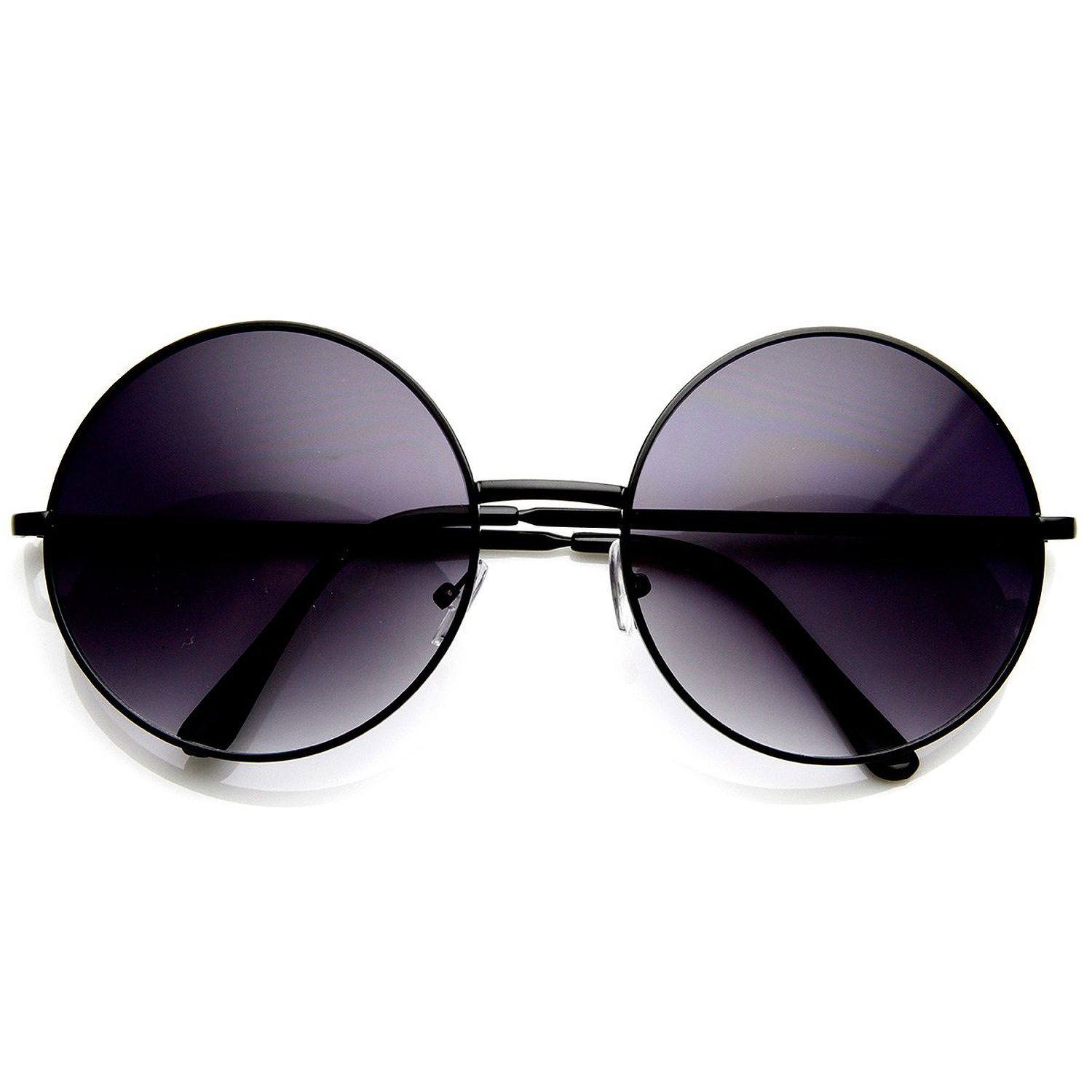 Amazon.com: Super Large Oversized Metal Round Circle Sunglasses (Black Lavender): Shoes