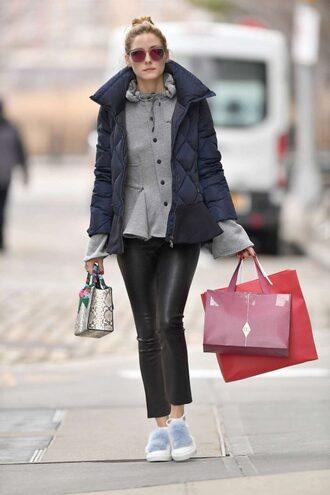 blouse shirt olivia palermo blogger jacket pants streetstyle shoes