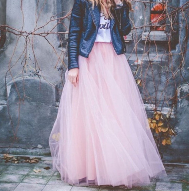 Skirt Pink Fashion Style Trendy Fall Outfits Maxi Light Pink