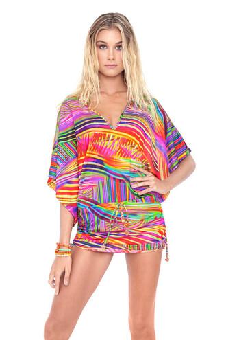 dress cover up luli fama beach dress multicolor bikini luxe bikiniluxe