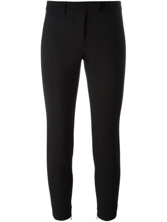 cropped fit black pants