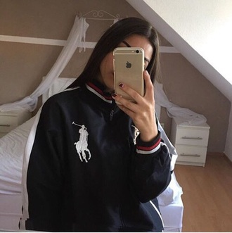 jacket ralph lauren ralph lauren polo red 90s style 90s jacket 90s vintage black white bomber jacket