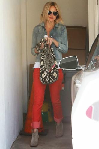 pants red pants kate hudson