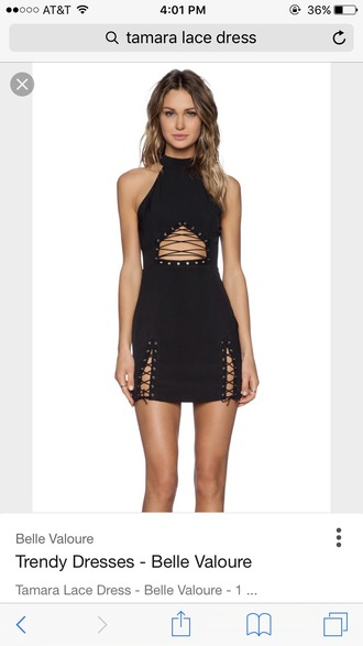 dress clothes black dress dance lace dress lace up cute dress fancy party dress cute halter dress