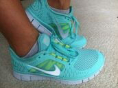 shoes,clothes\,running shoes,nike,blue,nike running shoes,workout,athle,in fashion,fashion,turquoise,aqua,hi lo,high low,hi lo dress