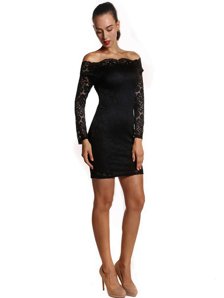 040614dc3c73 dress lace dress fashion black style black dress chic bodycon dress little  black dress off the