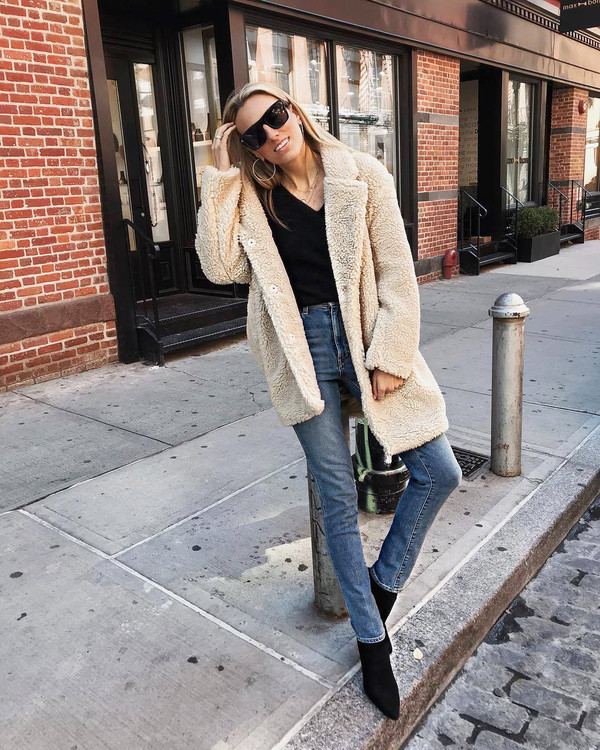 first look differently latest discount H&M Short Pile Coat $79.99