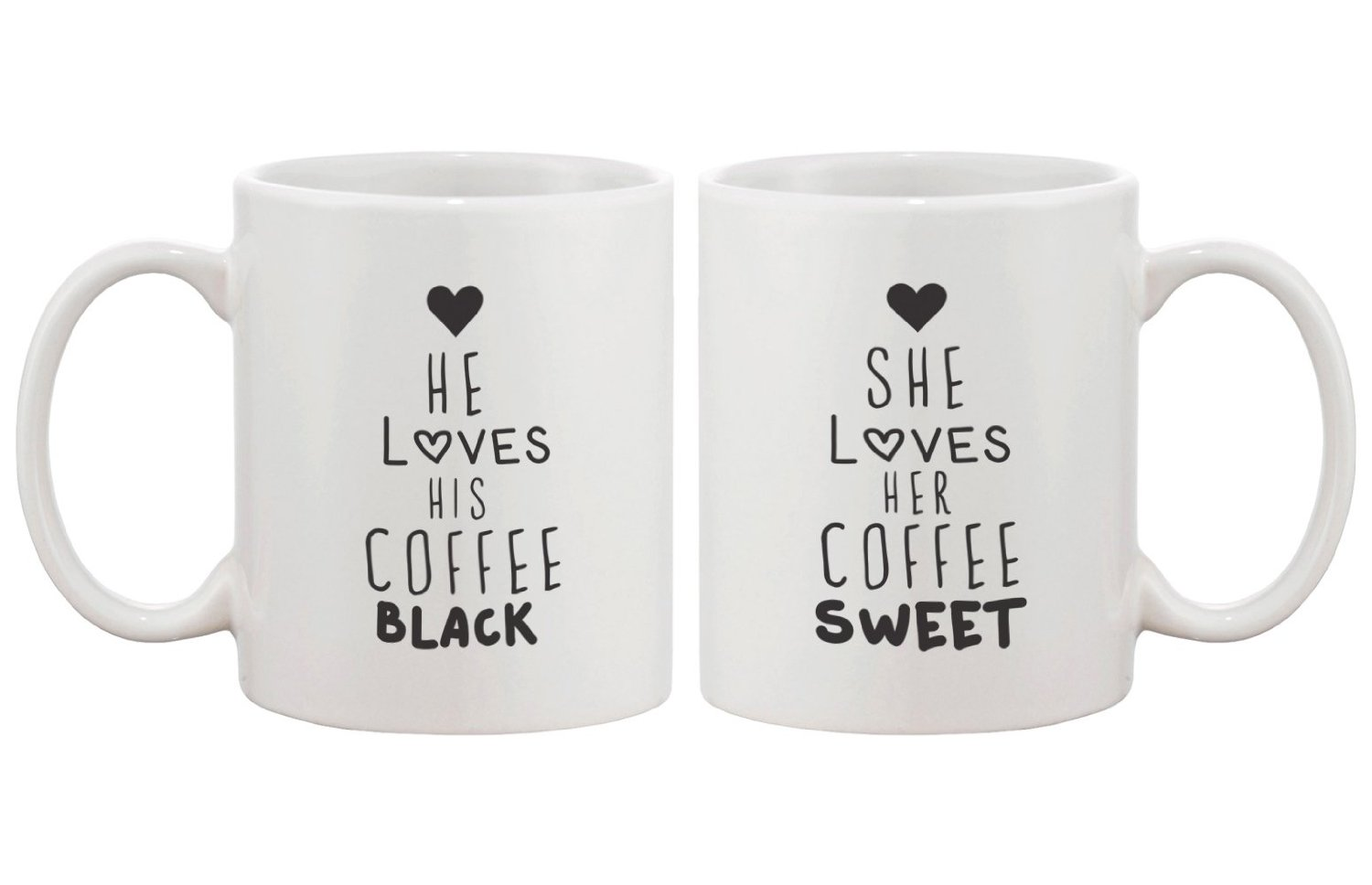 Amazon.com: Black Coffee Matching Couple Mugs - Perfect Wedding, Engagement, Anniversary, and Valentines Day Gift for Newlyweds: Kitchen & Dining