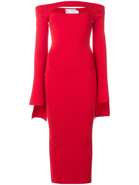 Solace London dress women spandex red