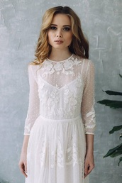 dress,wedding dress,lace,white