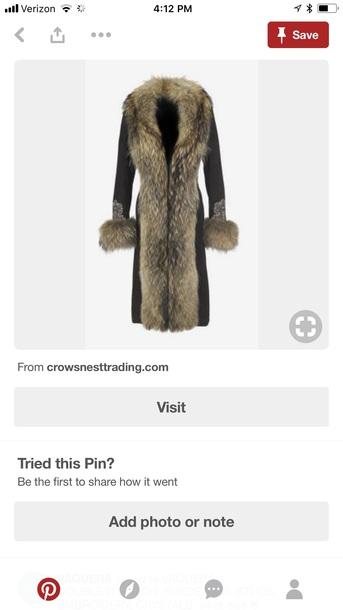 coat coat with long fur collar