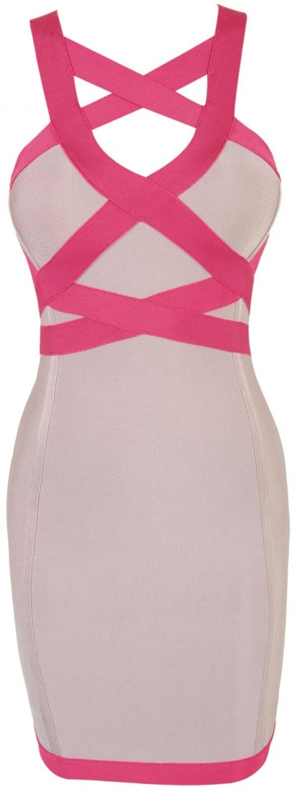 dress bandage dress pink dress pink