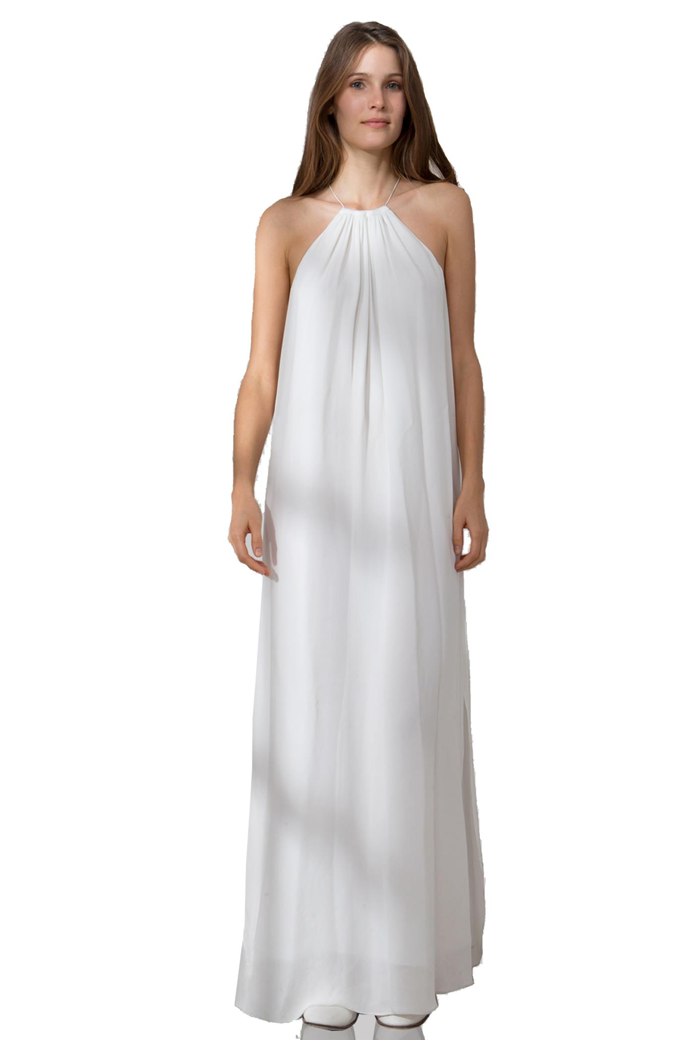 Solid dbl ggt maxi dress at tangerine nyc in ivory, marble paint print, bright geometric
