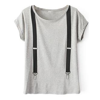 t-shirt grey t-shirt cool t-shirt suspenders