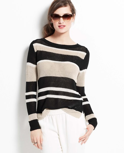 Marina Stripe Sweater | Ann Taylor