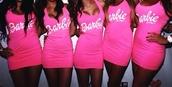 dress,pink dress,pink,barbie,t-shirt,top
