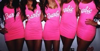 dress pink dress pink barbie t-shirt top