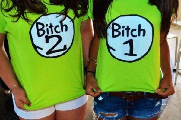 shirt bitch tops bitch 1 neon green