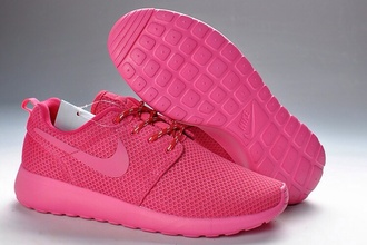 shoes all pink nike roshe run