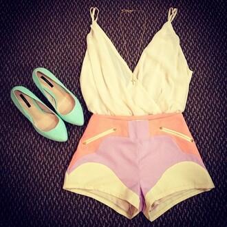 shirt white shorts white top wrap dress white tank top blouse shoes