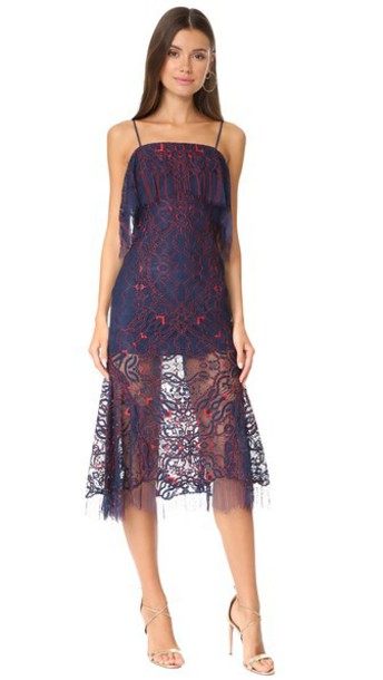 dress lace red