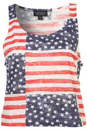 Multi stars and stripes print vest